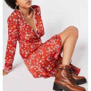 🆕️ Free People Convent Garden Midi Surplice dress